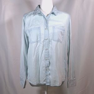 Chambray Light Blue Casual Button Down